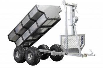 ATV puutraileri + rahtilaatikko + nosturi