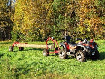 ATV tukkikärry takatuella ja manuaalivinssillä