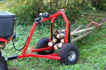 ATV puunkantolaite sähkövinssi-välineistöllä