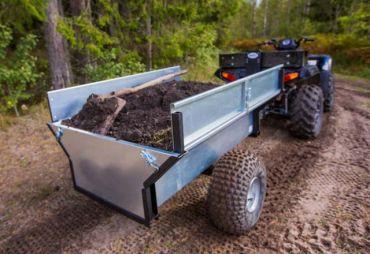 ATV/Quad/Traktori kippaava peräkärry
