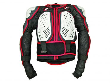 Polisport valkoinen/musta/punainen Integral body armor