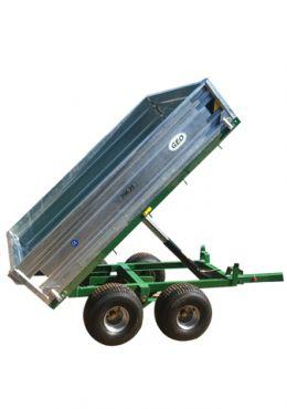 Hydraulinen kippaava peräkärry - 2500kg kapasiteetti